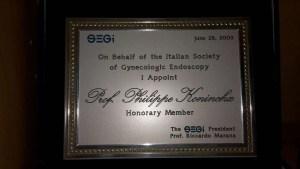 Membro onorario della SEGI