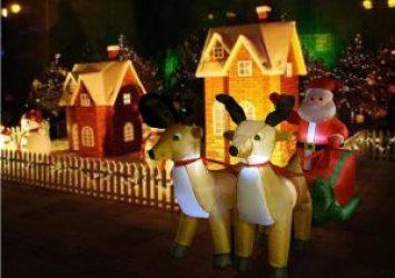 decorazioni natalizie gonfiabili