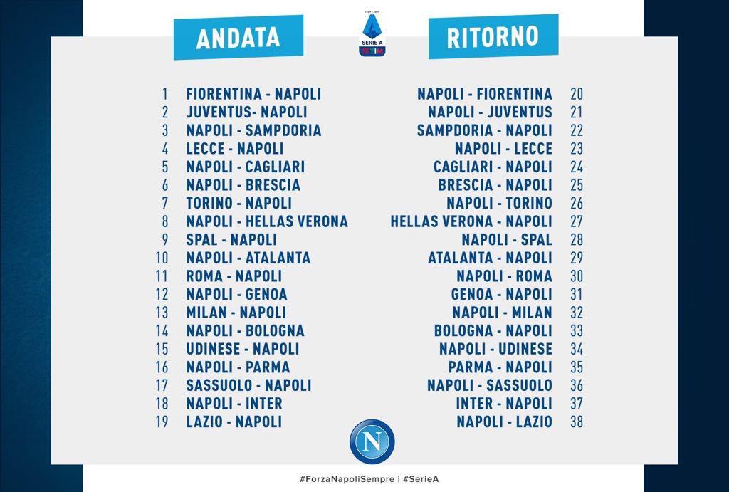 Napoli Calendario.Foto Il Calendario Completo D Andata E Ritorno Del Napoli