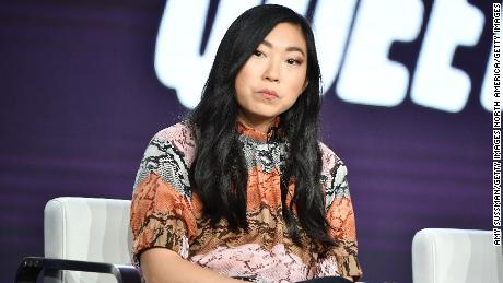 "Awkwafina of ""Awkwafina is Nora from Queens"" speaks during the Comedy Central segment of the 2020 Winter TCA Press Tour at The Langham Huntington, Pasadena on January 14, 2020 in Pasadena, California. (Photo by Amy Sussman/Getty Images)"