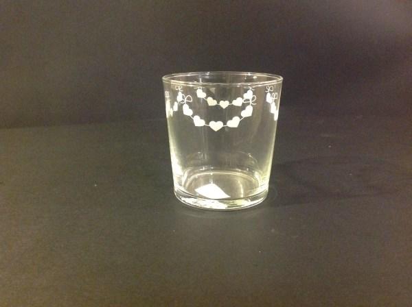 """Simple Day Bicchiere """" Ghirlanda Cuori"""""""