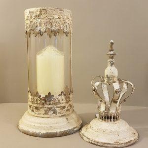 Lanterna in ferro panna anticata con corona Van deurs Denmark