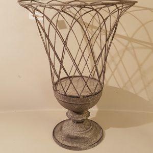 porta vaso\ porta candela in metallo