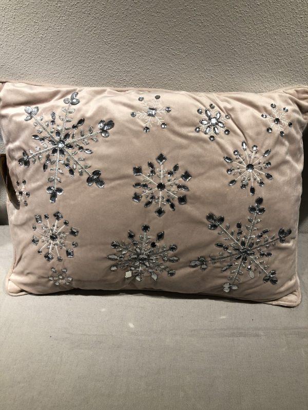 cuscino rosa cm 35 x cm 50 decoro strass
