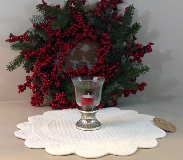 porta candela vetro intagliato e piede vetro argento