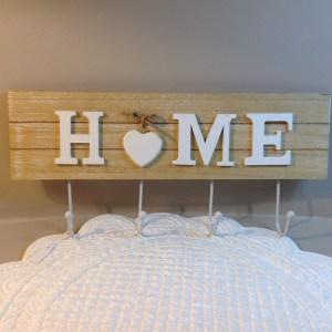 Appendino in legno scritta HOME