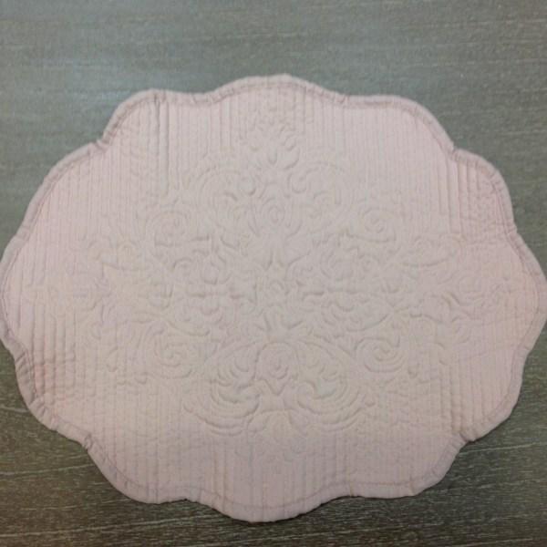 L'Atelier 17 Tovaglietta in boutis rosa antico ovale