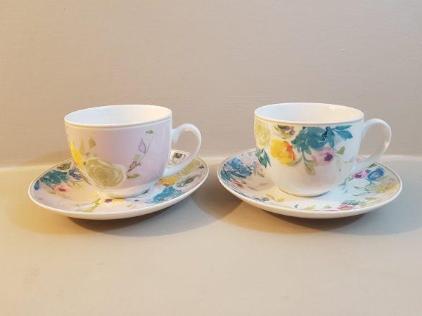 Brandani Set 2 tazze tè in bone china
