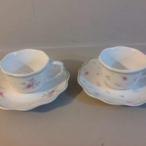 Brandani Set 2 tazze da tè a fiorellini rosa Nonna Rosa