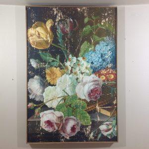 Blanc Mariclò Quadro floreale fondo nero