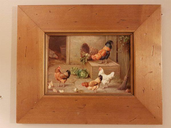Blanc Mariclò coppia di quadri vintage con cornice in legno