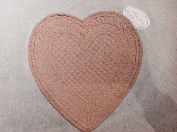 Blanc Mariclò Boutis a cuore piccolo rosa antico