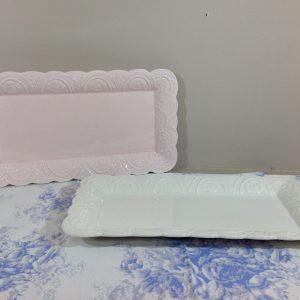 Blanc Mariclò Barattolo in ceramica rosa con fregi e palline e coperchio con pomello