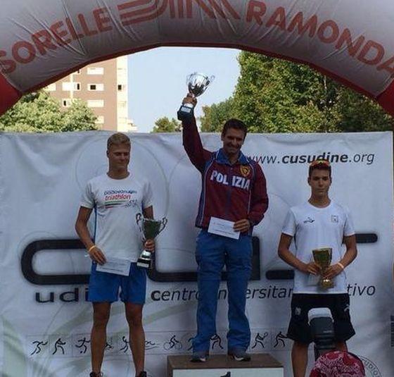 I tre protagonisti maschili del 16° Triathlon di Udine