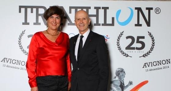 """Marisol Casado e Philippe Lescure all'""""ITU Triathlon 25"""""""