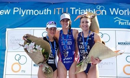 La Coppamondo triathlon di New Plymouth nel segno dell'aliena