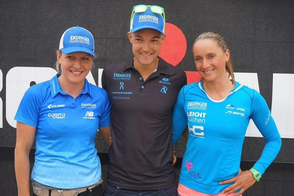 I vincitori dell'Ironman 70.3 Mallorca 2016 Andreas Dreits e Laura Philipp