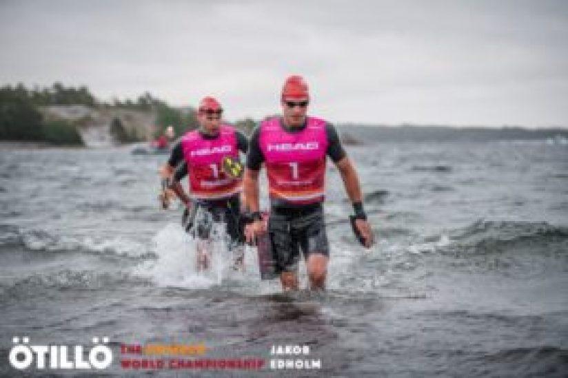 Daniel Hansson e Jesper Svensson si sono laureati campioni del mondo di swimrun 2017 nella categoria Men lunedì 4 settembre in Svezia (Foto ©Otillo Swimrun WC / Jacob Edholm)