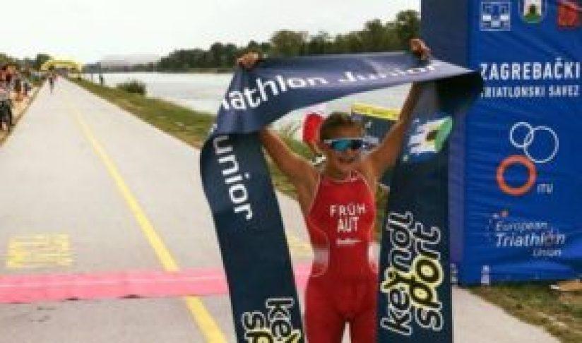 L'austriaca Magdalena Fruh vince l'ETU Triathlon Junior European Cup 2017 a Zagabria