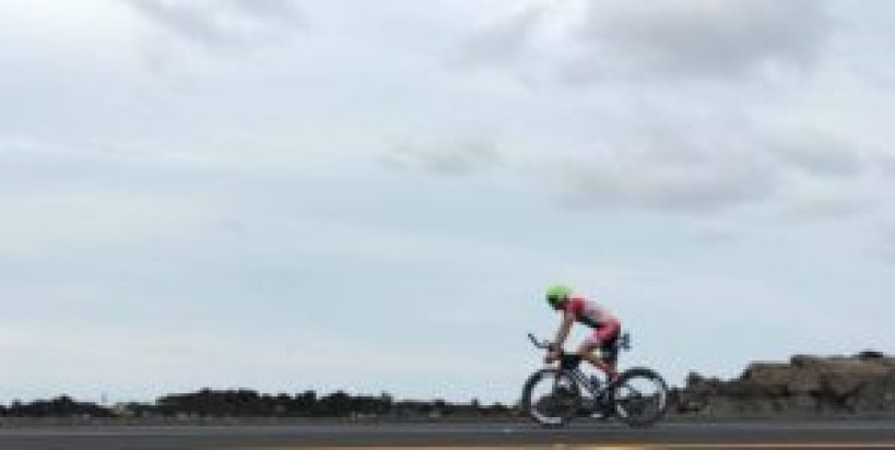 Giulio Molinari è al suo debutto all'Ironman World Championship, Kona-Hawaii