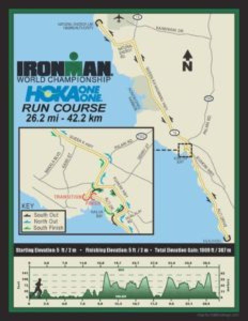 Il percorso della frazione a piedi dell'Ironman World Championship 2017, Kona-Hawaii