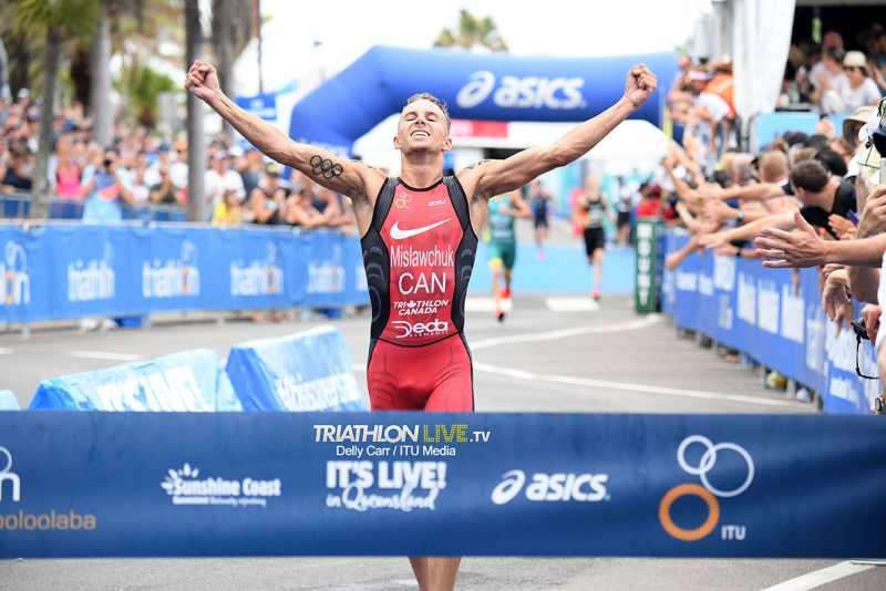 Il canadese Tyler Mislawchuk è il re dell'ITU Triathlon World Cup Mooloolaba 2019 (Foto ©ITU Media /Delly Carr).