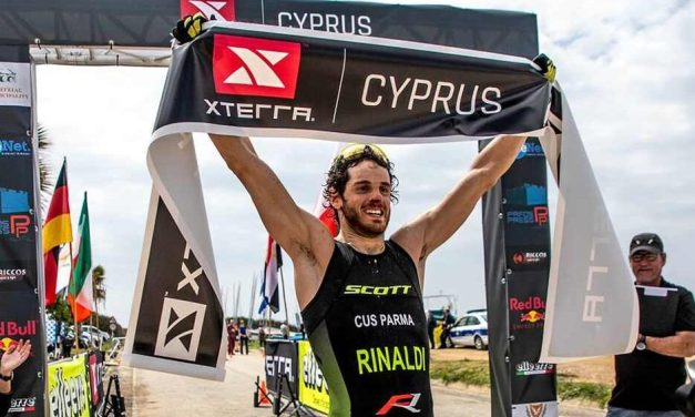 Filippo Rinaldi al via dell'XTERRA World Championship 2019