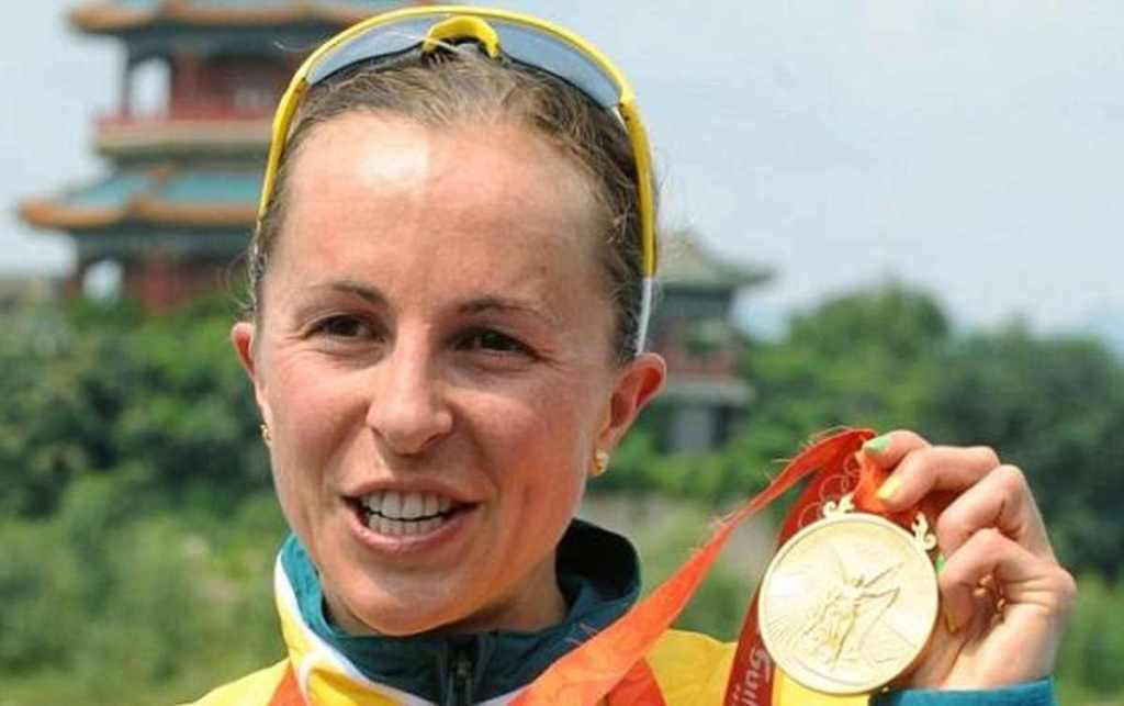 Emma Snowsill, oro alle Olimpiadi di Pechino 2008.