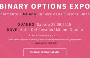 Binary Options EXPO, Opzioni Binarie a Milano il 26 settembre