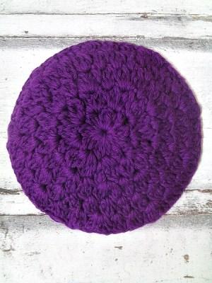 Kippa Schkia gehäkelt violett - MONDSPINNE
