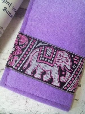 """Brillenetui """"Elefant"""" (Flieder) von MONDSPINNE"""