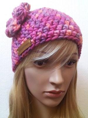 """Mütze """"Primula"""" (pink) von Mondspinne"""