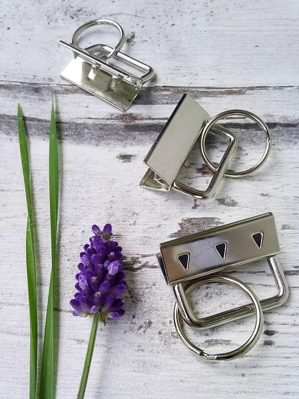 Schlüsselbandrohlinge 30mm silbern