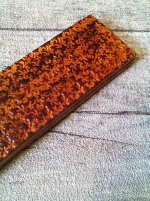 "Schlüsselanhänger ""Rustikal"" (braun-meliert) geprägt, aus vegetabil gegerbtem Rindsleder - MONDSPINNE"
