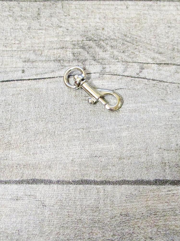 Schlüsselkarabiner silber Druckguss Nr. 1051 36x14x3 - MONDSPINNE