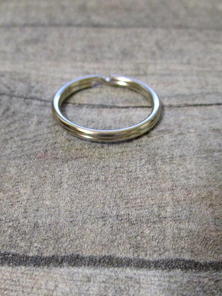 Schlüsselring silber Eisen 30mm rund Nr. 3026 - MONDSPINNE