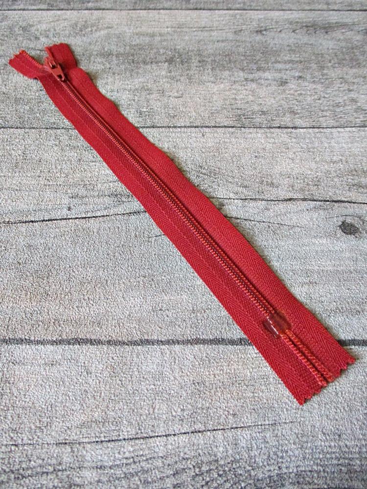 Reißverschluss tomatenrot 18 cm lang 22 mm breit YKK - MONDSPINNE