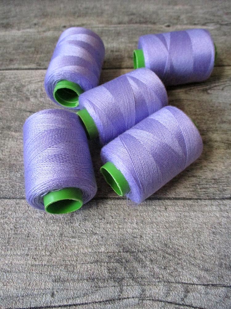 Garn Nähgarn hellviolett flieder Polyester 0,1 mm 400 m - MONDSPINNE