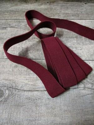 Gummiband Elastikband 2 cm Polyester Elastodien rotbraun - MONDSPINNE