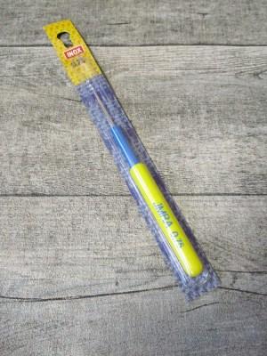 Häkelnadel INOX IMRA Prym Stärke 0,75 silber-gelb-blau Metall Kunststoff - MONDSPINNE