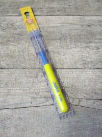 Häkelnadel INOX IMRA Prym Stärke 1,25 silber-gelb-blau Metall Kunststoff - MONDSPINNE
