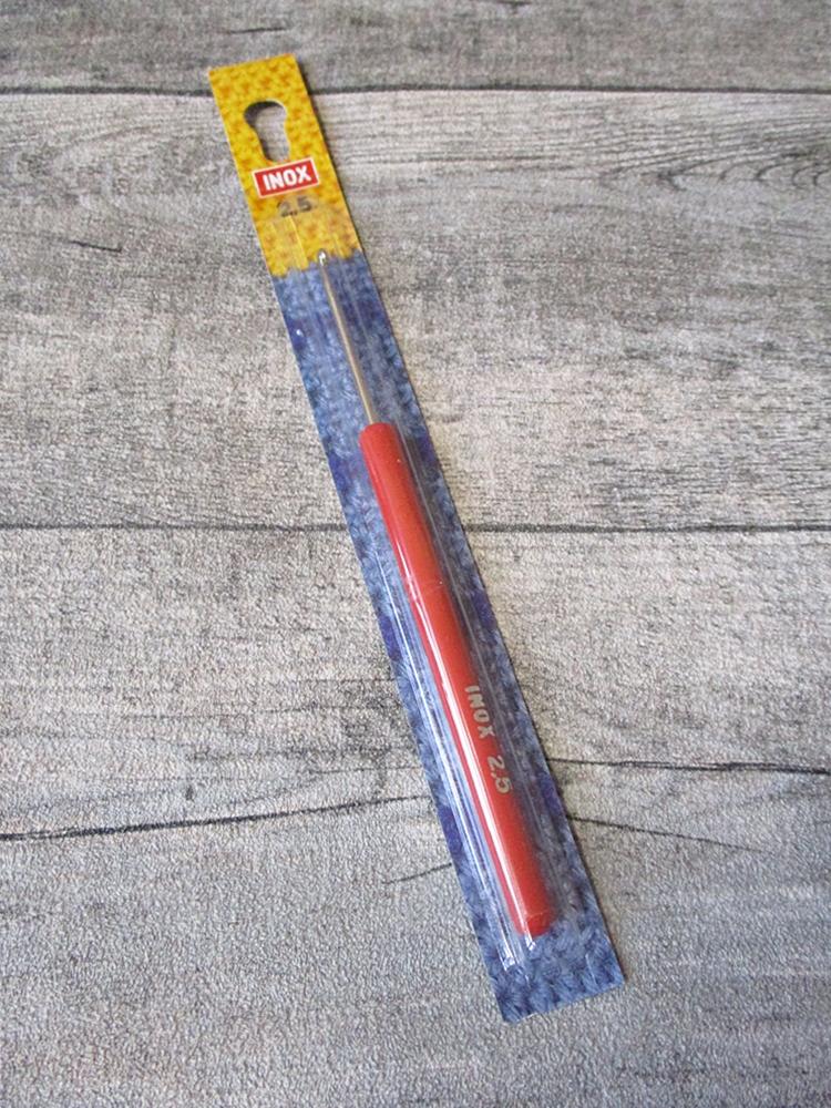 Häkelnadel INOX Prym 2,5 rot - MONDSPINNE