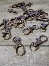 Schlüsselkarabiner Karabiner bronze Metall 37x15x4 mm - MONDSPINNE