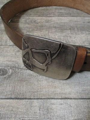 Gürtel Wechselgürtel Ledergürtel dunkelbraun Used-Look Rindsleder 38 mm gewachst Größe 95 - MONDSPINNE