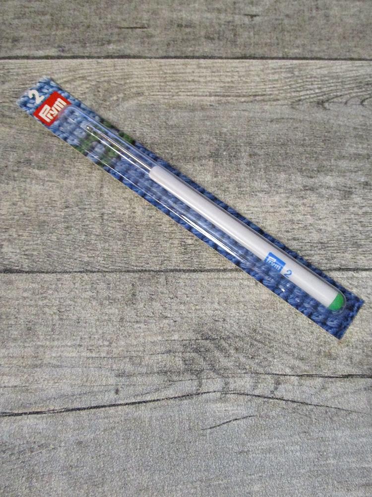 Häkelnadel Prym Stärke 2 silber-grau Metall Kunststoff - MONDSPINNE