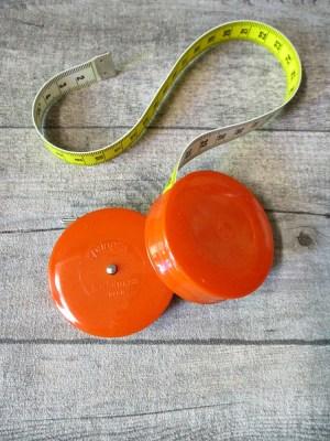 Maßband Bandmaß Metermaß Rollmaß Rollmaßband rund orange einfarbig 150 cm springfix hoechstmass - MONDSPINNE