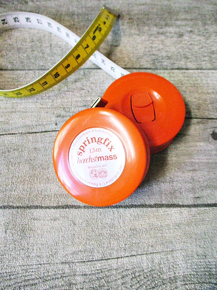 Maßband Bandmaß Metermaß Rollmaß Rollmaßband rund orange-silber 150 cm springfix hoechstmass - MONDSPINNE