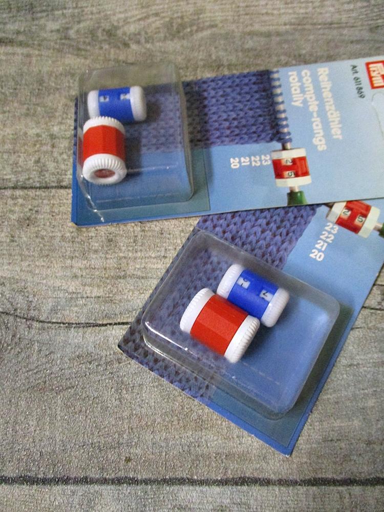 Reihenzähler Duo Doppelpack Zweierpack 2 Stück Prym rot blau Kunststoff - MONDSPINNE