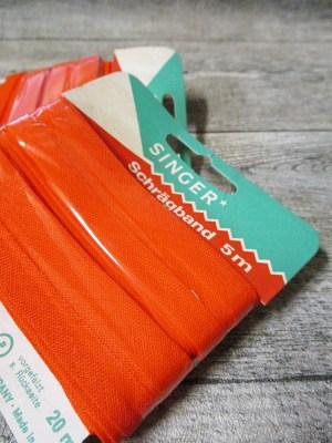 Schrägband Singer Baumwolle kochecht lichtecht 5m 20mm orangerot - MONDSPINNE