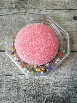 Stecknadeln 20 Gramm mit Glasköpfchen bunt mit Nadelkissen rosa - MONDSPINNE